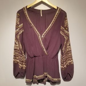 Free People Purple Boho Tunic